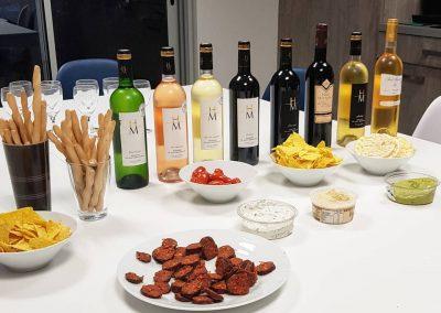 Préparation dégustation vin domaine pomport